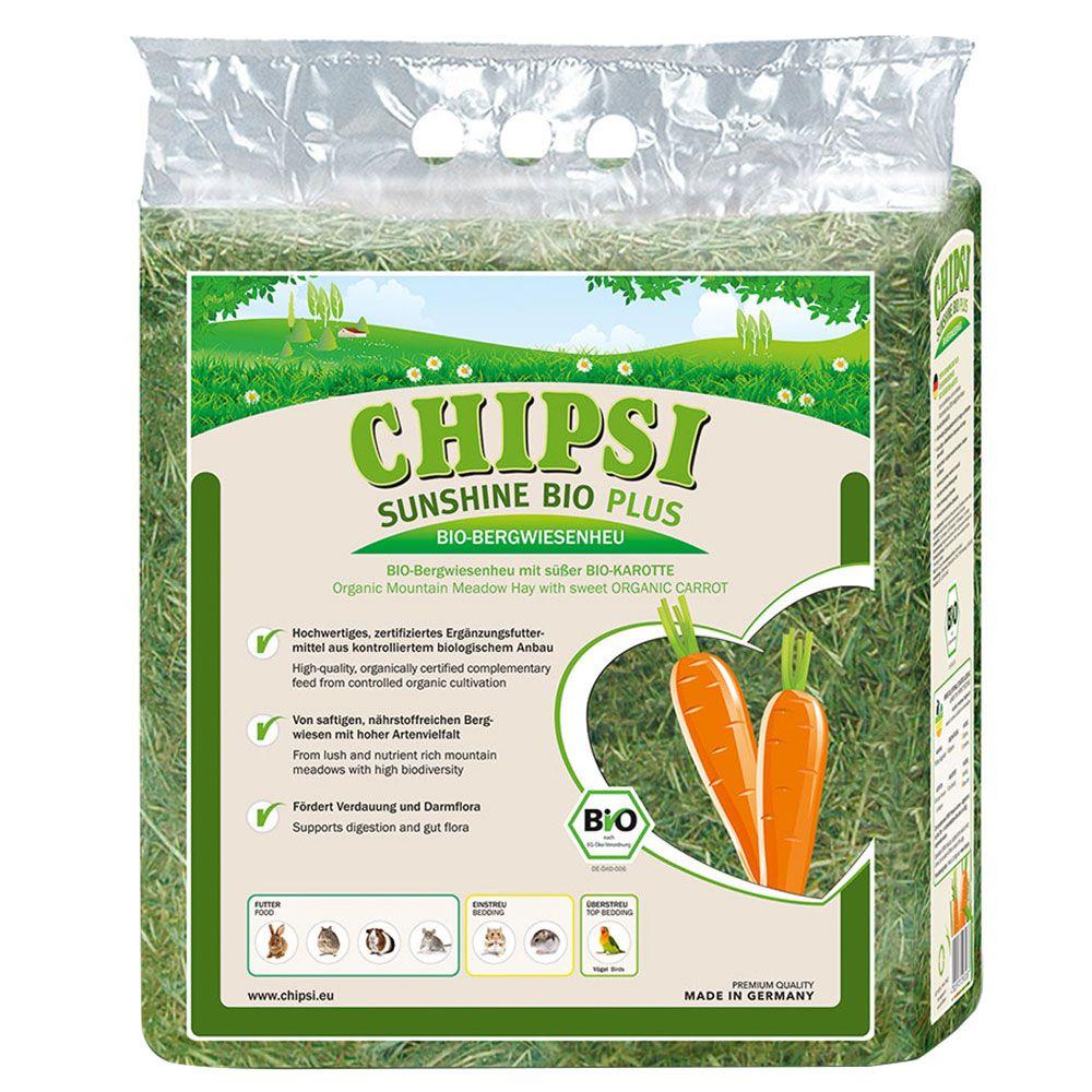 Chipsi Sunshine Bio Plus Bergwiesenheu - Bio Pfefferminze (3 x 600 g)