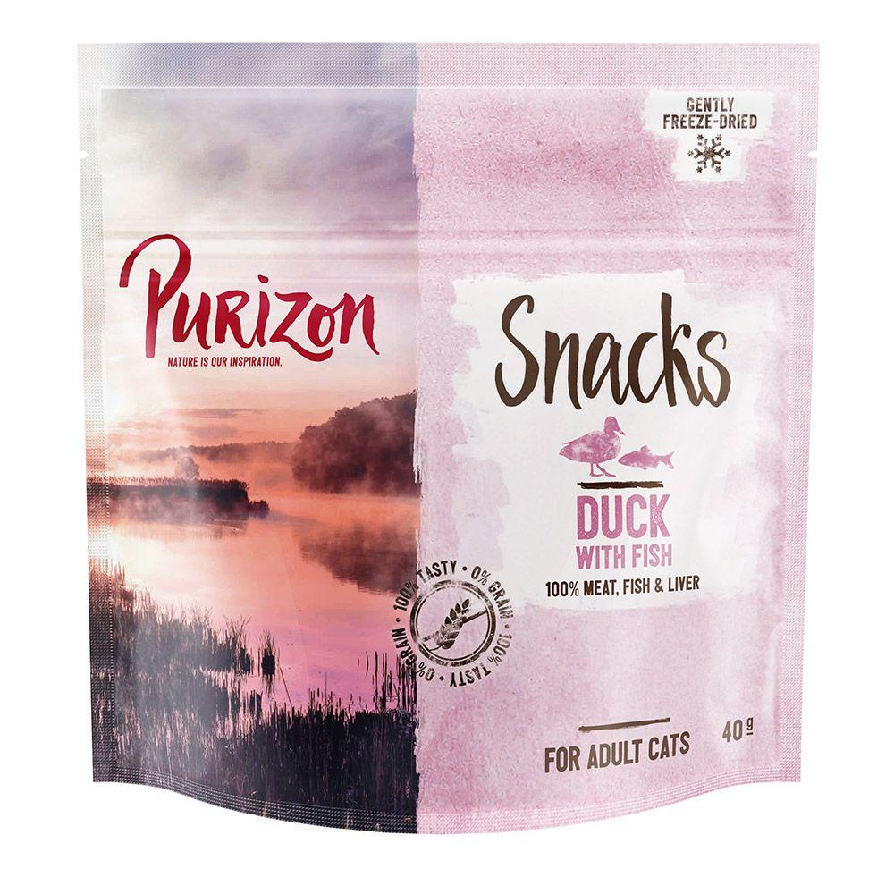 Purizon Snack Ente mit Fisch - getreidefrei - 3 x 40 g