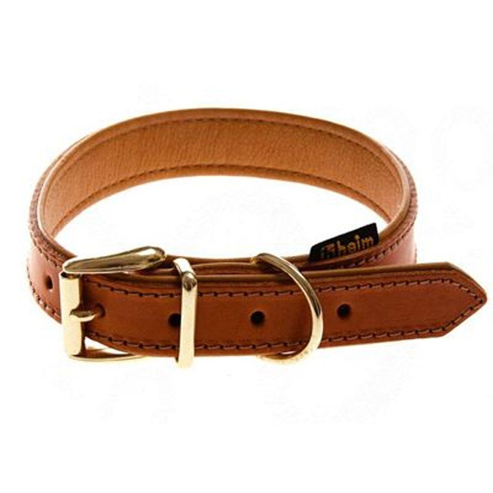 Heim Buffalo Dog Collar - Cognac - Size 55