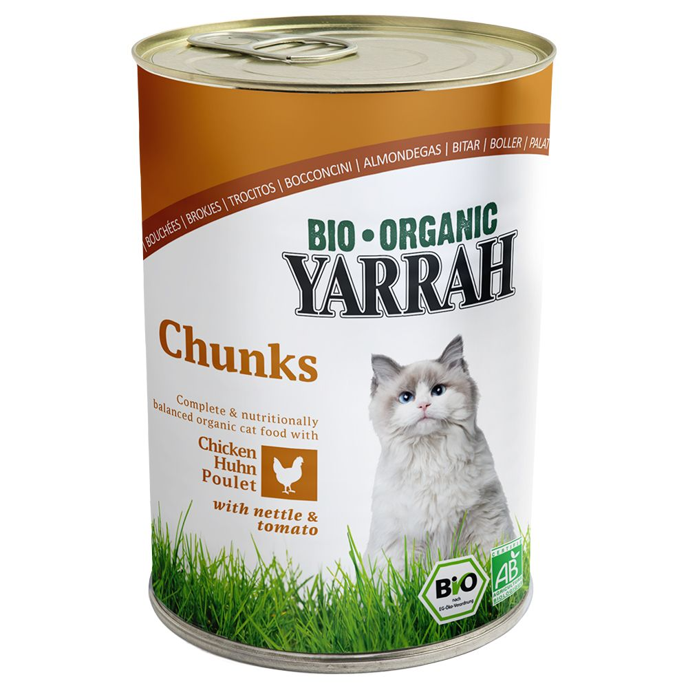 24 x 400g/405g Yarrah Organic Wet Cat Food