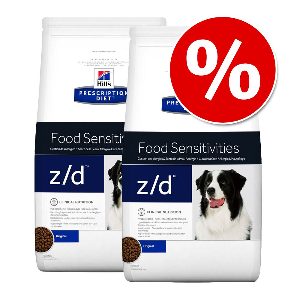 Sparpaket Hill's Prescription Diet Canine 2 x Großgebinde/ Kleingebinde - j/d Joint Care Reduced Calorie (2 x 12 kg)