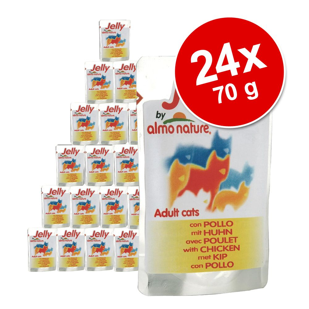 Image of Sparpaket Jelly Pouch by Almo Nature 24 x 70 g - Huhn