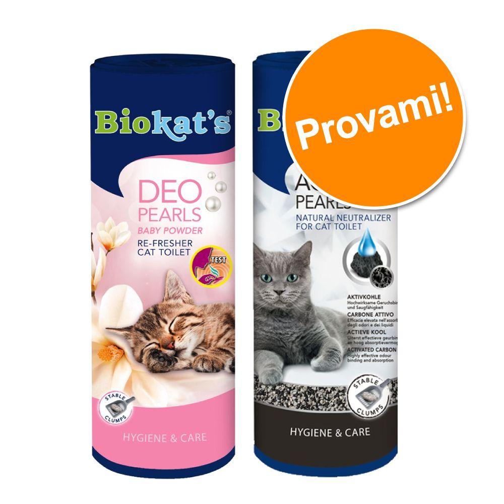 Image of Set Prova misto! Deodoranti per lettiera Biokat's - 700 ml Active Pearls + 700 g Deo Pearls