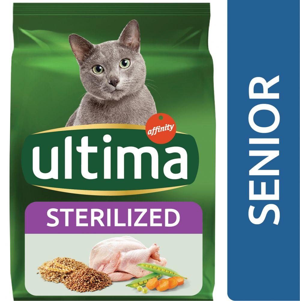 3kg Ultima Stérilisé, Senior - Croquettes pour chat