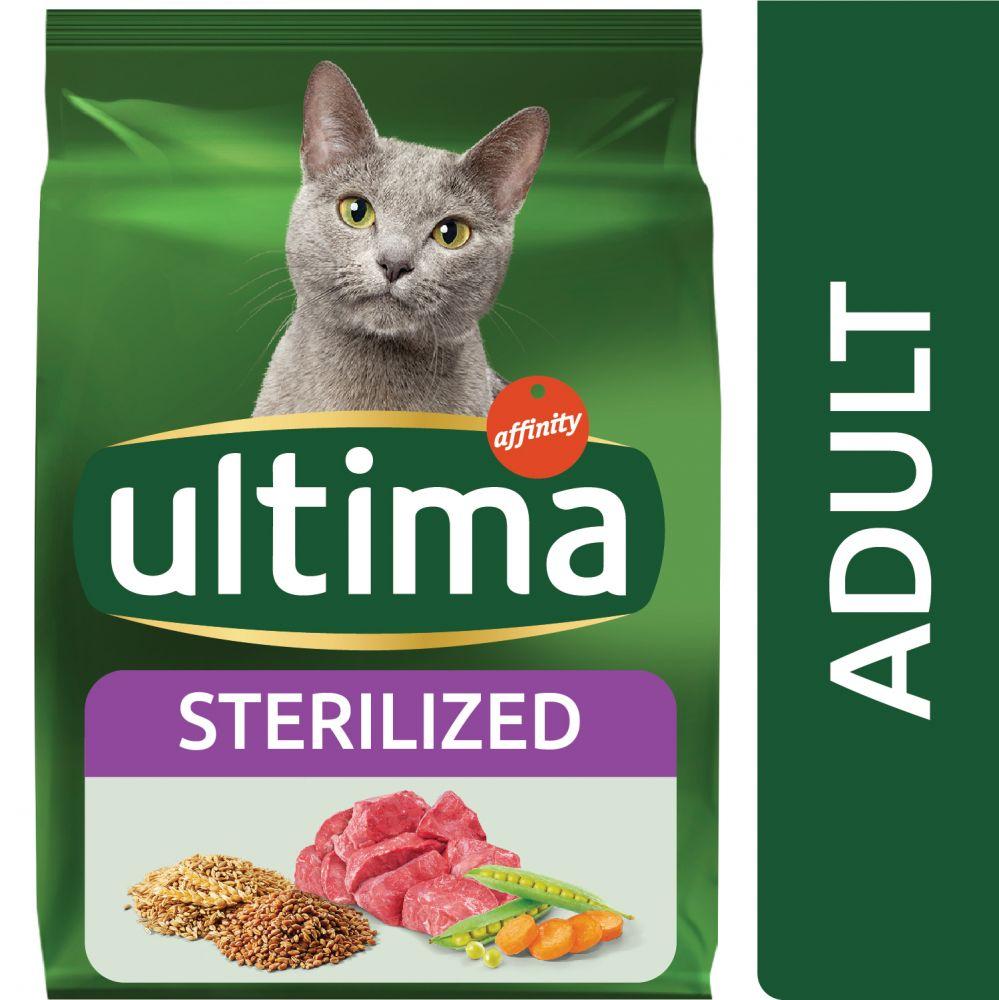 3kg Ultima Stérilisé, bœuf - Croquettes pour chat