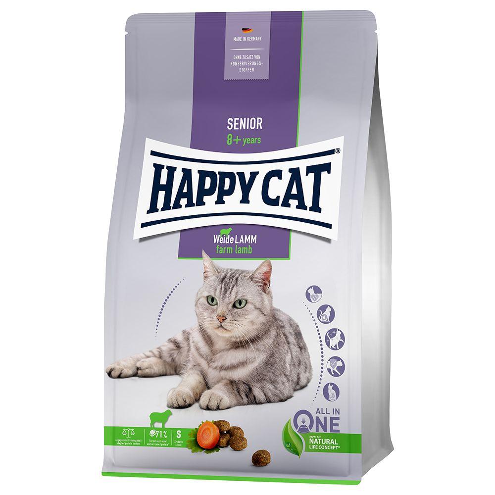 Happy Cat Senior Farm Lamb - Ekonomipack: 2 x 4 kg