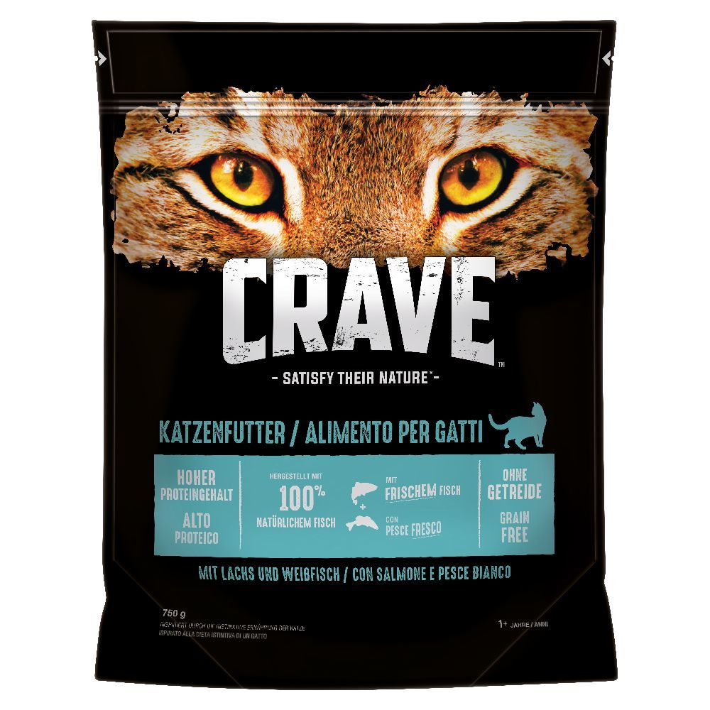 Crave Adult Salmon & White Fish - Ekonomipack: 5 x 750 g