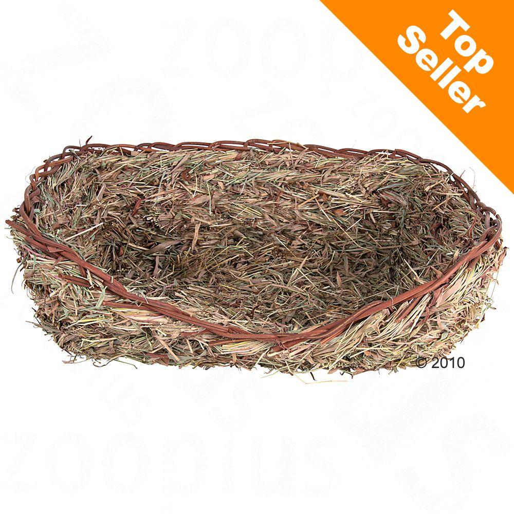 Lit de foin et d´herbes pour rongeur et oiseau - L 33 x l 12 x H 26 cm (pour lapin)
