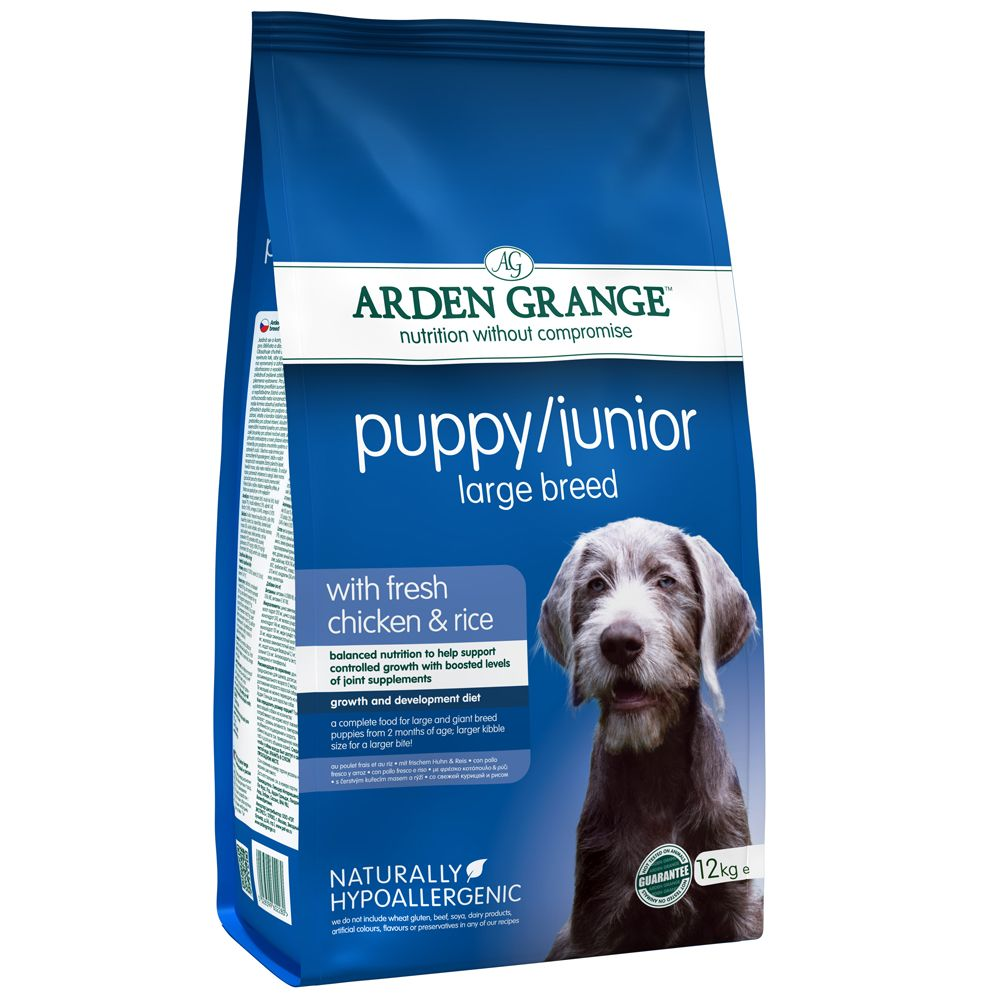 Arden Grange Large Breed Puppy/Junior - Chicken & Rice - Economy Pack: 2 x 12kg