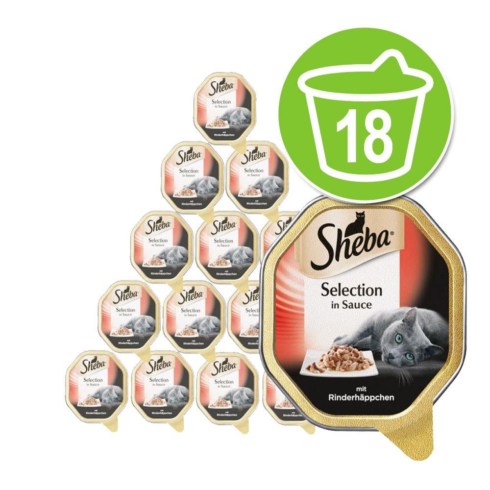 "Ekonomipack: Sheba """"Best of i litet format"""" portionsform 18 x 85 g – Selection in Sauce – Kanin"