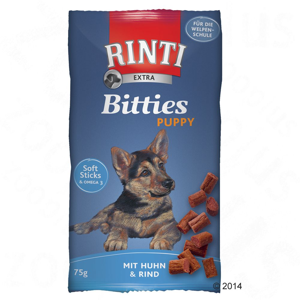 Image of Rinti Extra Puppy Bitties Huhn & Rind - 2 x 75 g