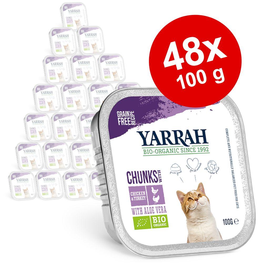 Sparpaket Yarrah Bio 48 x 100 g - Pâté: Bio-Huhn & Bio-Truthahn mit Bio-Aloe Vera