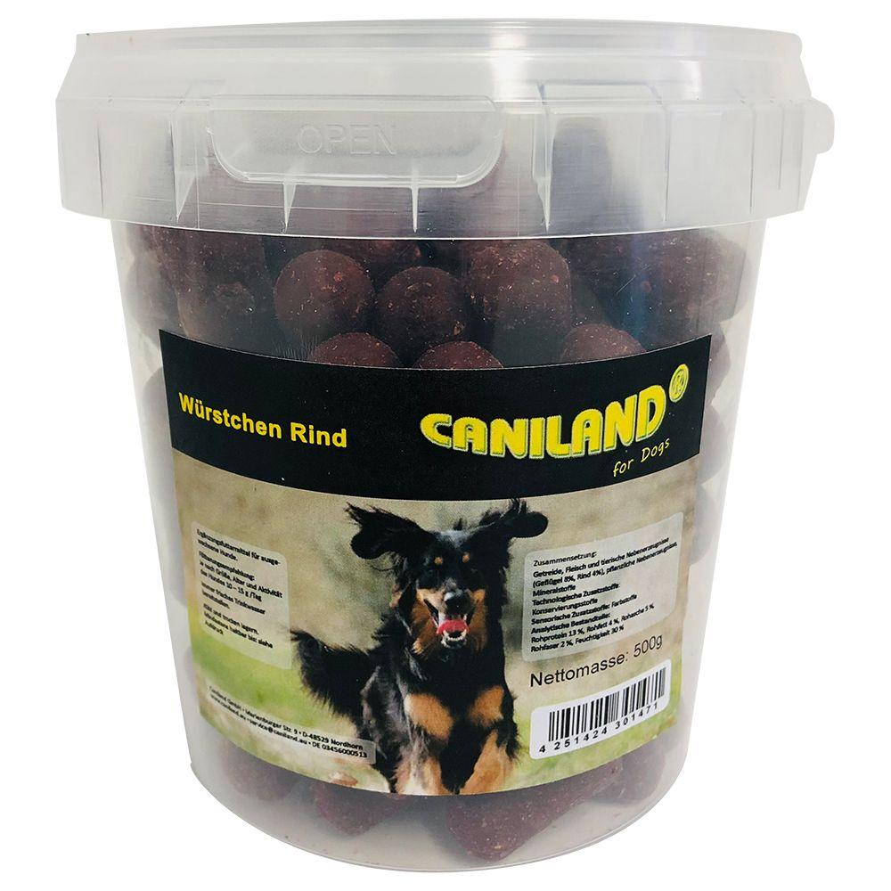 Image of Caniland Salamini di Manzo con aroma affumicato Snack per cani - Set %: 3 x 500 g