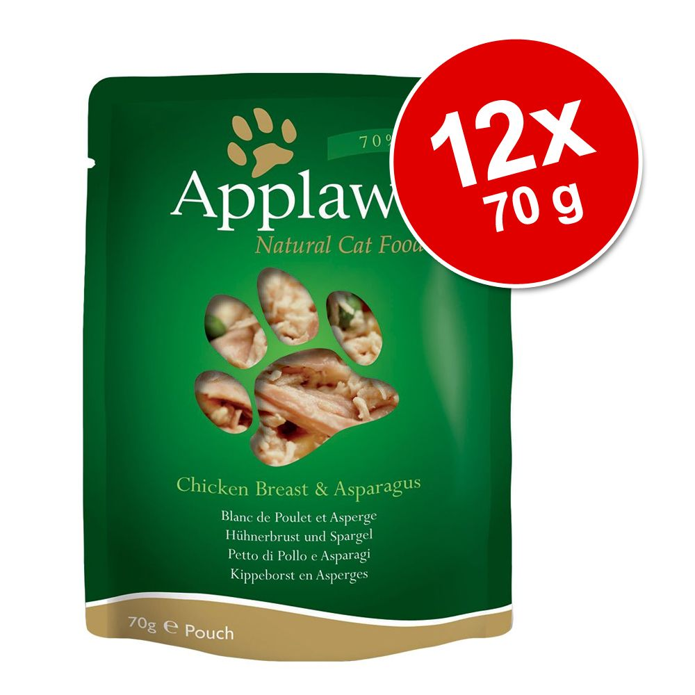 Image of Applaws Buste Naturale 12 x 70 g - Filetto di Tonno e Orata
