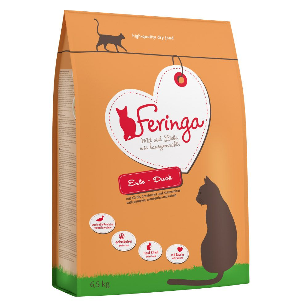 Large Bags Feringa Dry Cat Food + Feringa Chicken & Duck Sticks Free