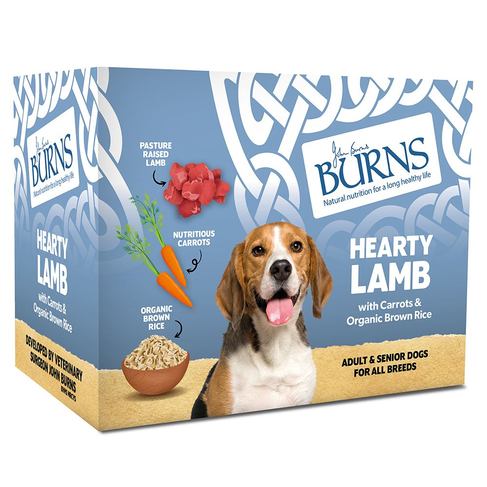 Burns Hearty Lamb, Vegetables & Brown Rice - Saver Pack: 24 x 395g Trays