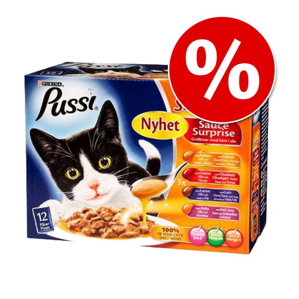 "Ekonomipack: Pussi """"Sensations"""" 24 x 100 g i gelé – Fiskvariationer"
