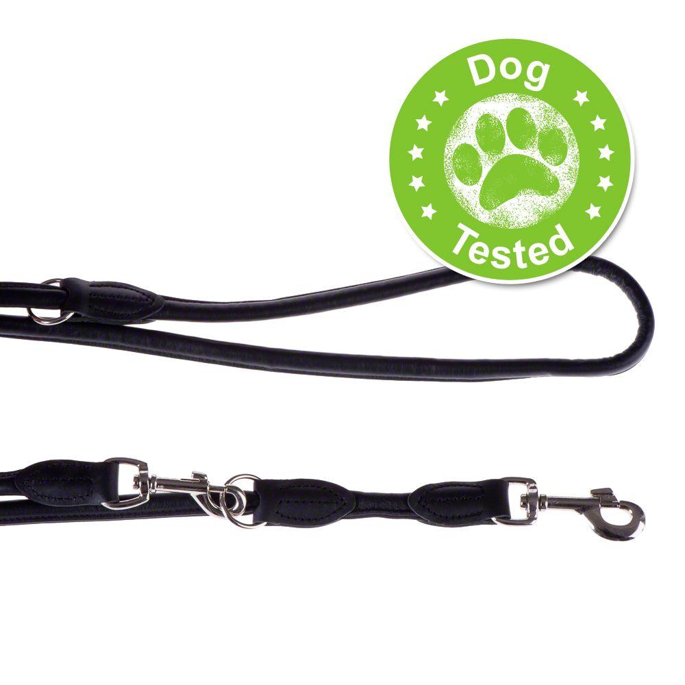 Laisse Hunter Round & Soft, noir pour chien - L 200 cm x 1 cm de diamètre