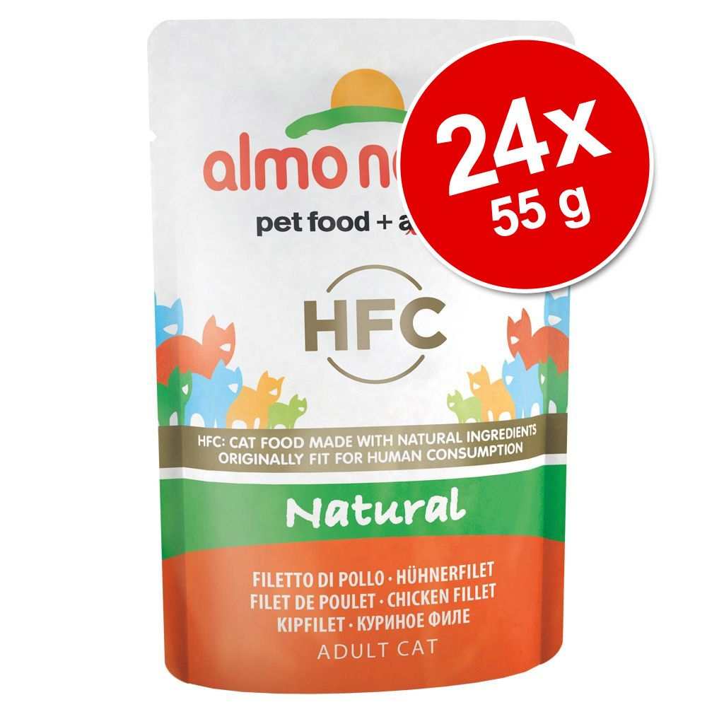 Image of 24 x 55 g Sparpaket Almo Nature HFC Pouch - Hühnerfilet