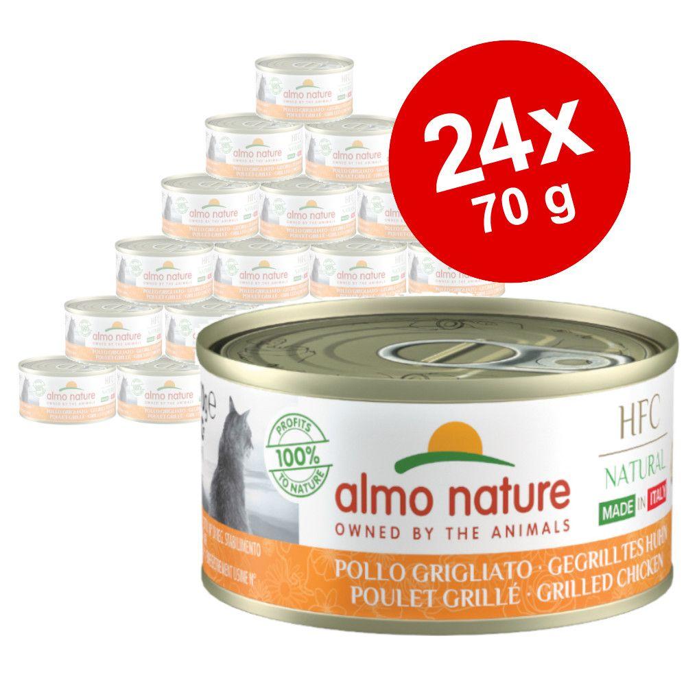 Ekonomipack: Almo Nature HFC Natural Made in Italy 24 x 70 g Röd tonfiskfilé