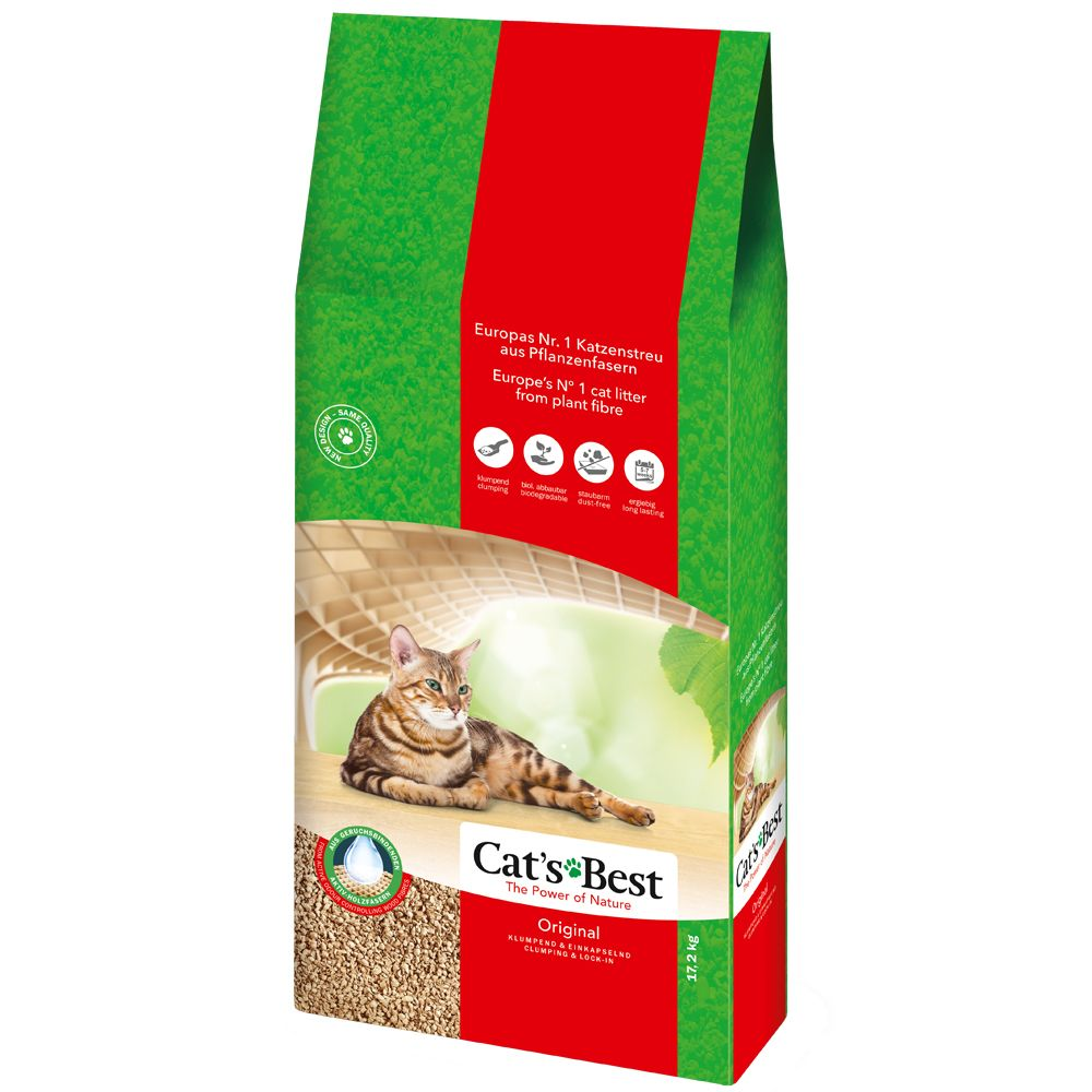 60 l Cat's Best Orginal kattsand - 40 l + 20 l (ca. 27 kg)