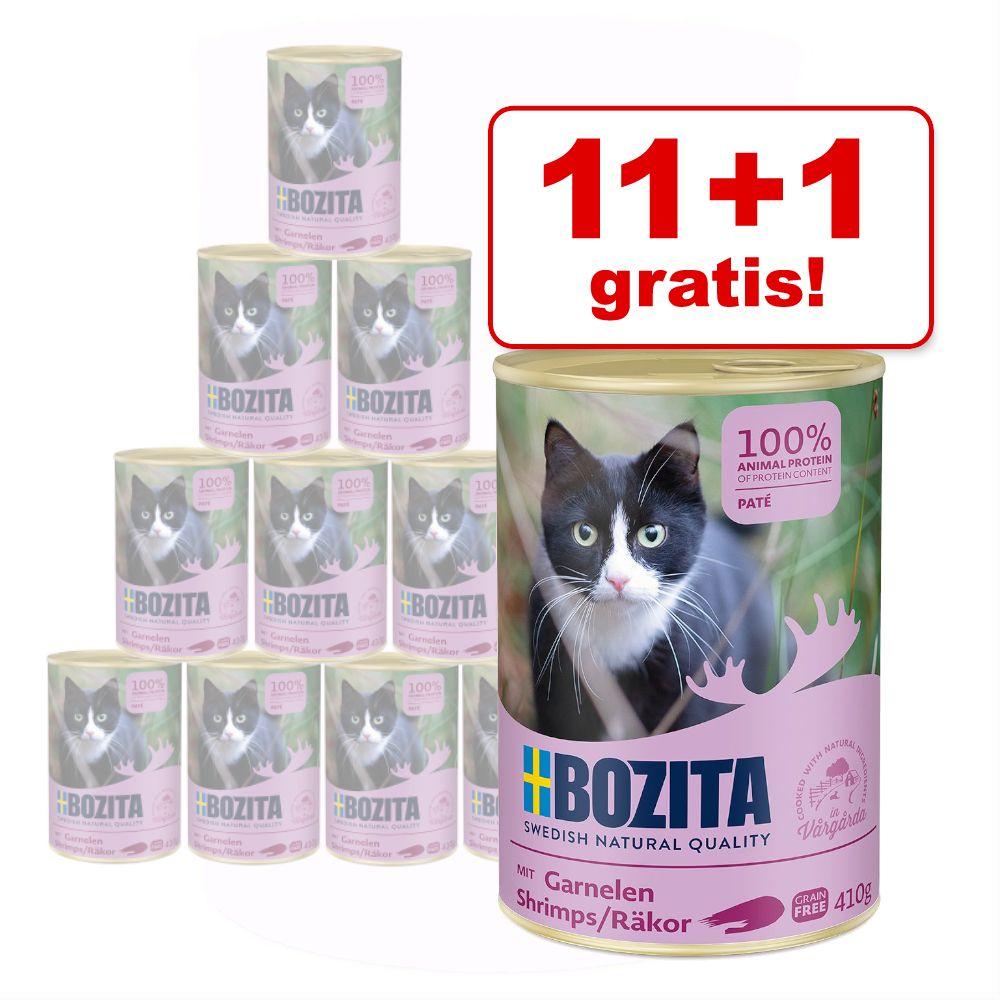 11 + 1 på köpet! Bozita Feline våtfoder på burk 12 x 410 g - Nötkött