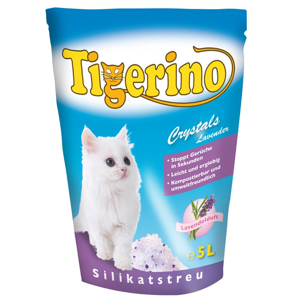 Tigerino Crystals Lavender Cat Litter - 5 litre