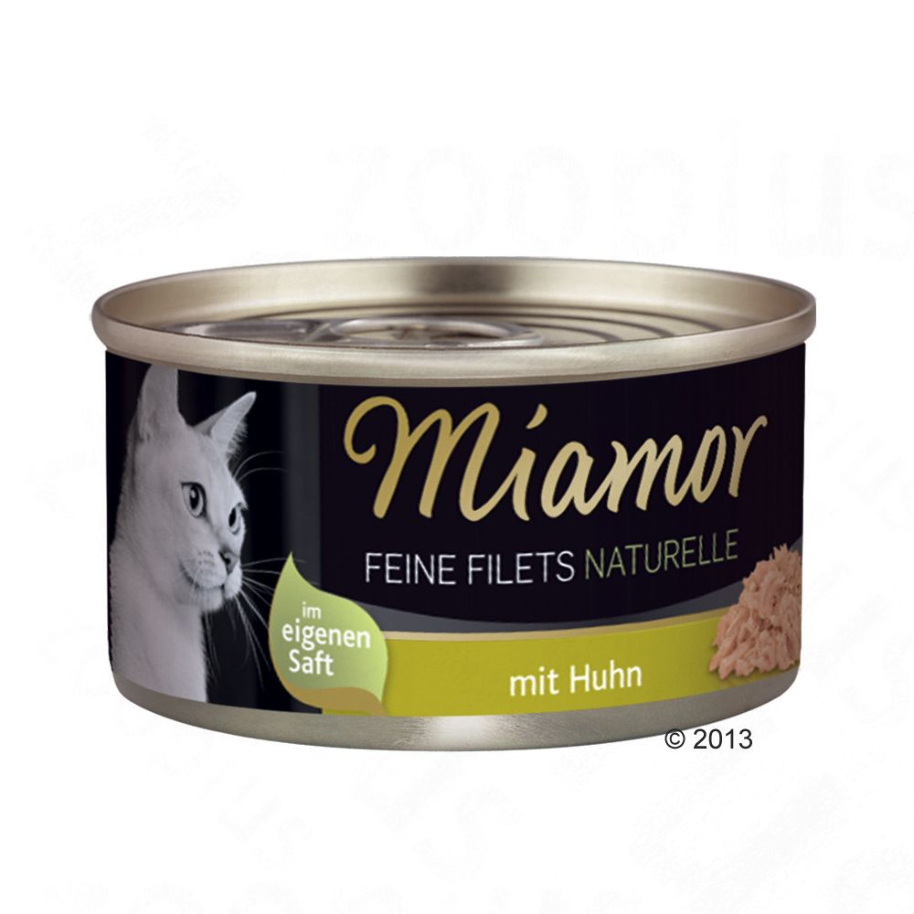 Miamor Feine Filets Naturelle 6 x 80 g - Bonito Thunfisch