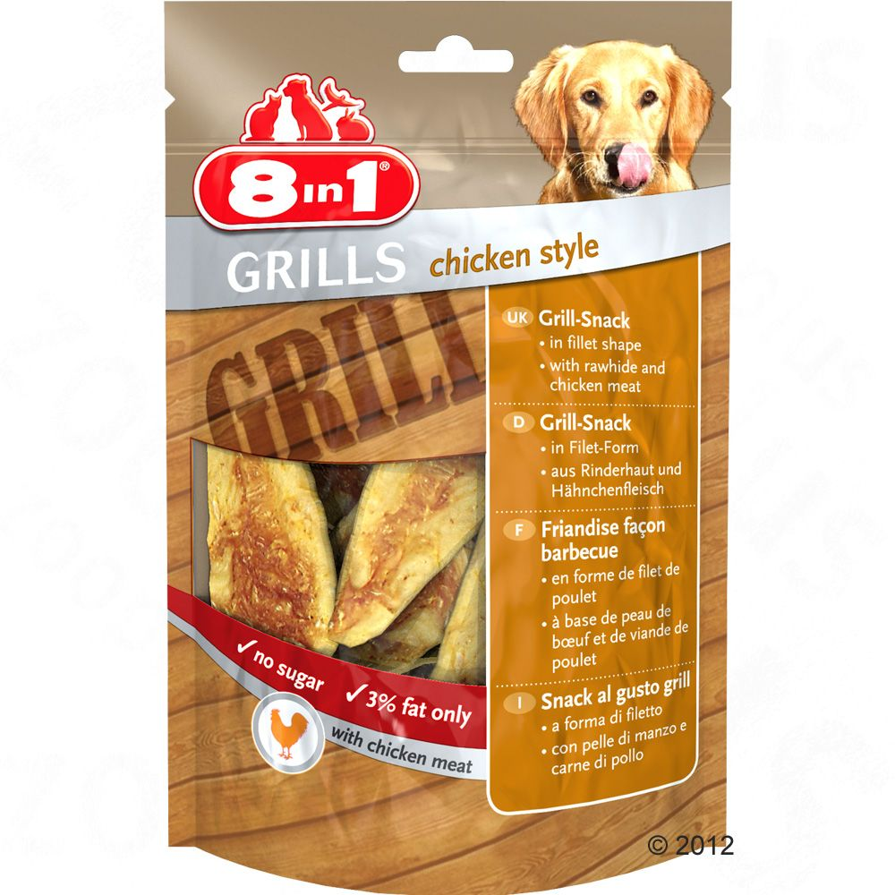 8in1 Delights Grills ? Chicken Style – 80g