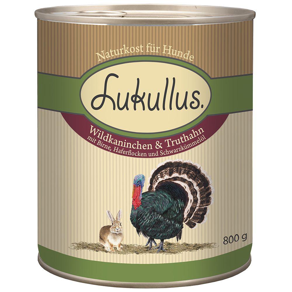 Lukullus Wild Rabbit & Turkey - 6 x 800g
