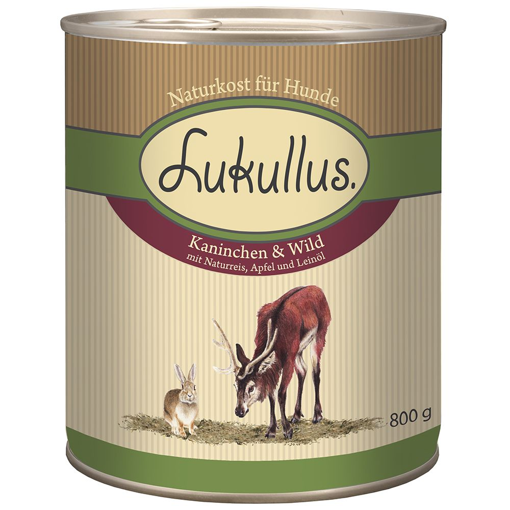 Lukullus Saver Pack 24 x 800g - Goose & Turkey Heart