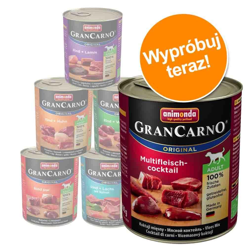 Mieszany pakiet Animonda GranCarno Original Adult, 6 x 800 g - Pakiet 1