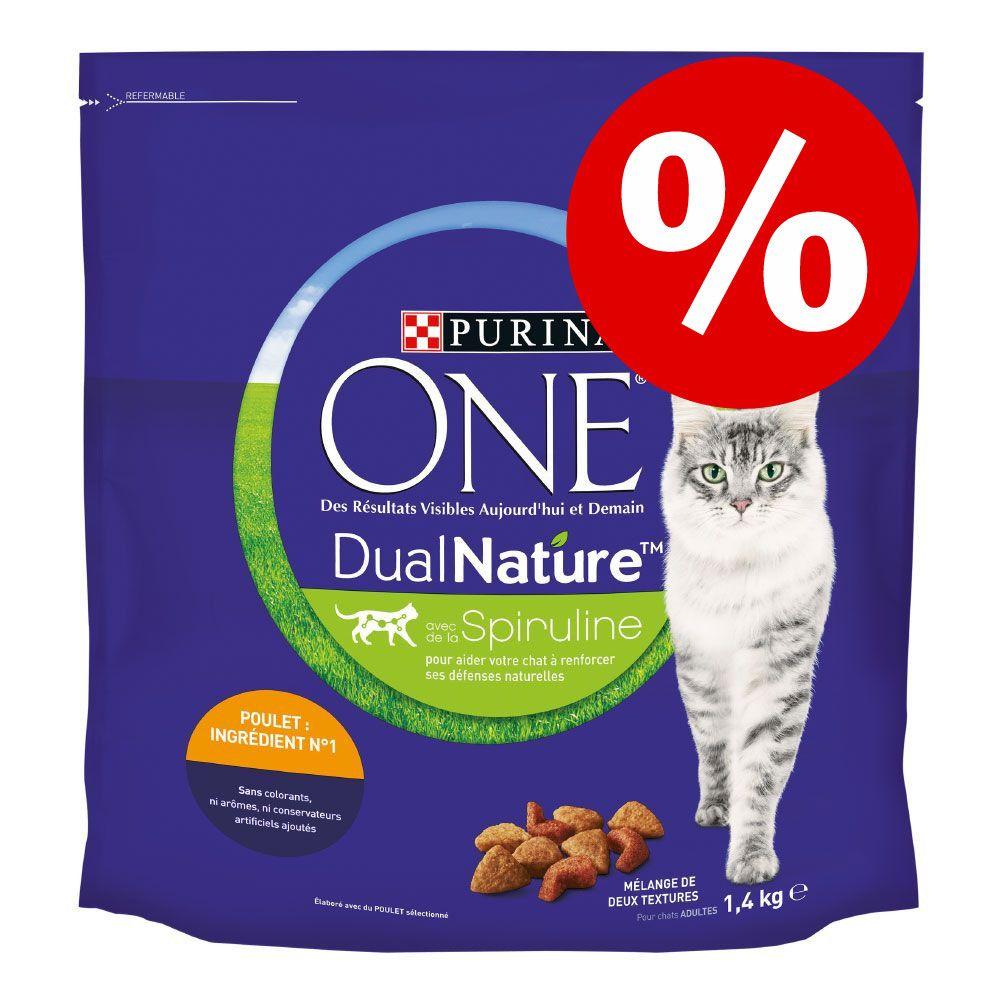 20 % rabatt! 2 x 1,4 kg Purina One Dual Nature 2 x 1,4 kg Dual Nature Kyckling
