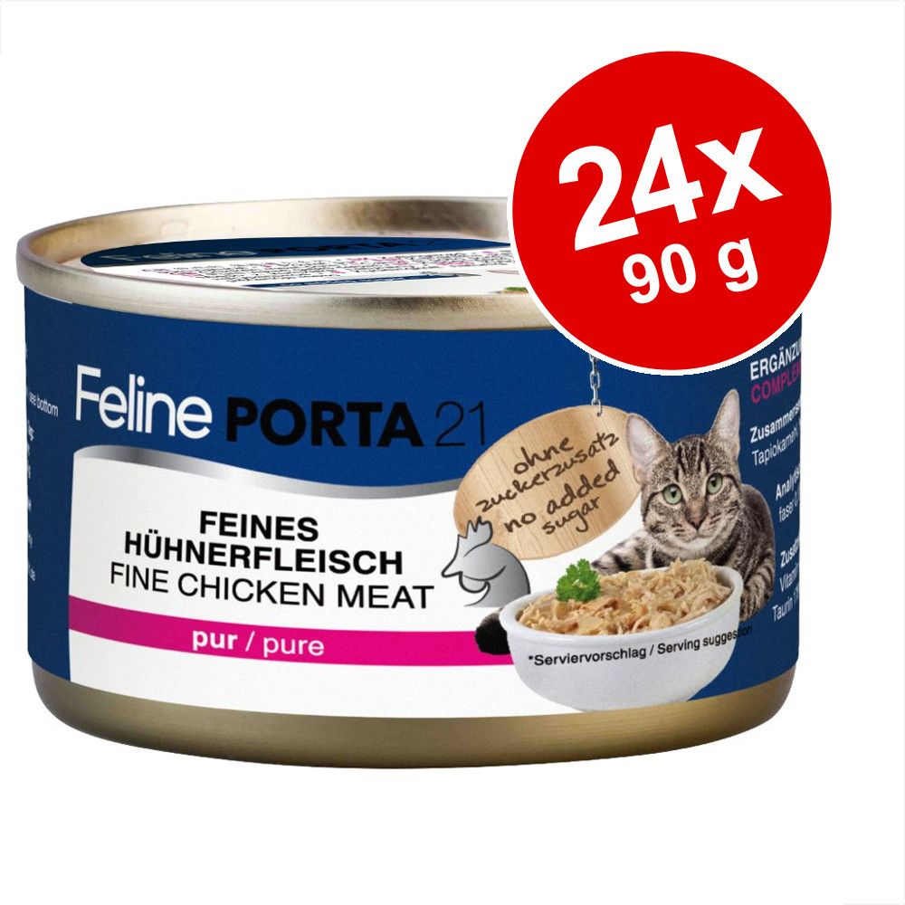 Ekonomipack: Feline Porta 21 24 x 90 g - Tonfisk med surimi - spannmålsfritt