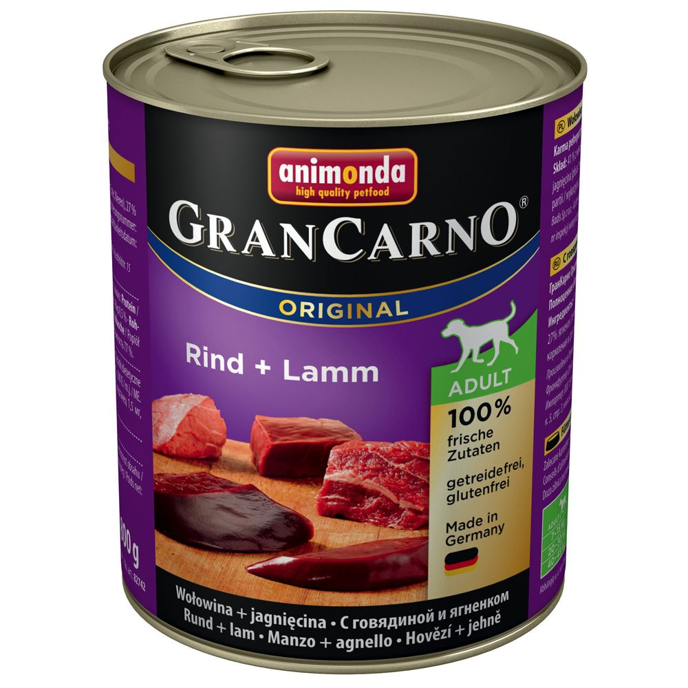 Animonda GranCarno Original Adult 6 x 800g - Beef & Venison with Apple