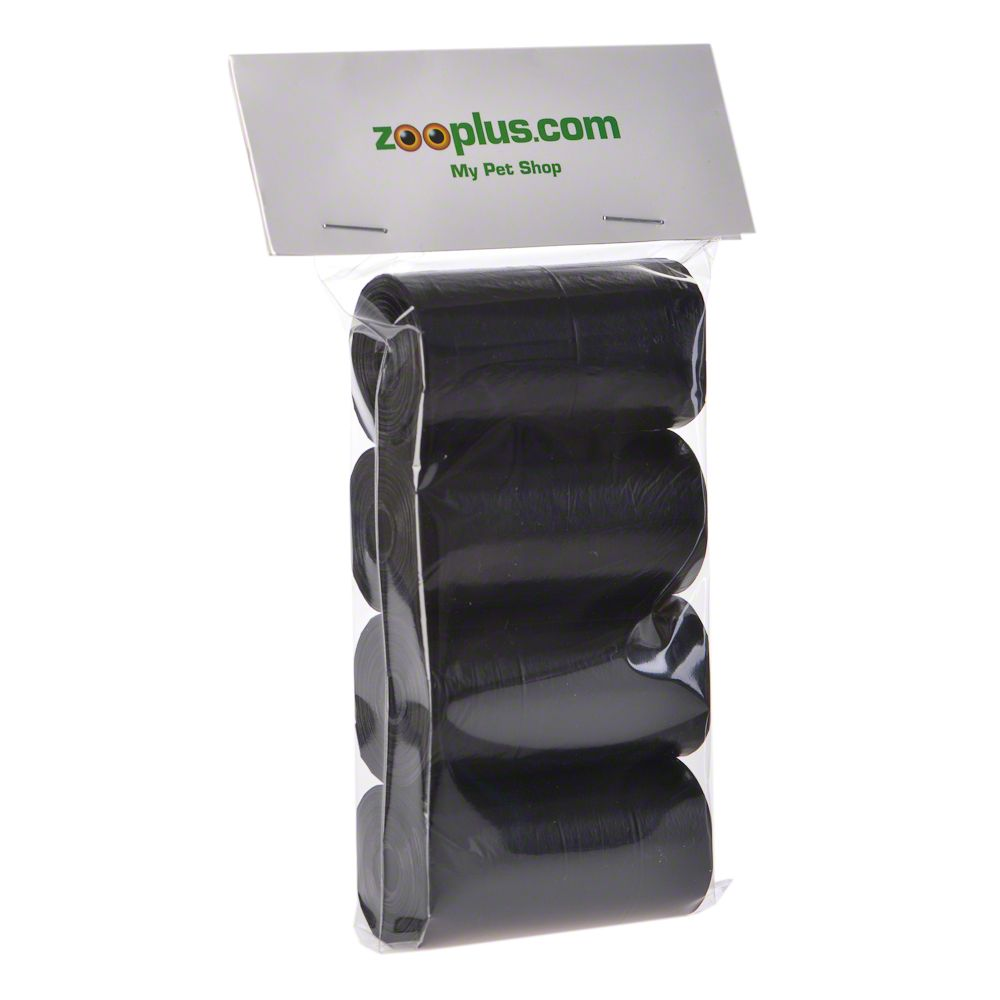 Biodegradable Dog Poop Bags - Black - 2 x 4 Rolls (20 bags per roll)