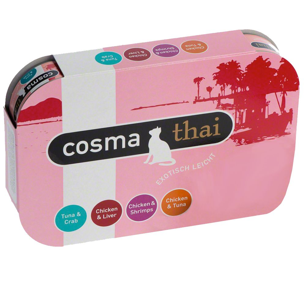 Cosma Thai in Jelly Mixed Trial Packs - 6 x 170g (Fruits)