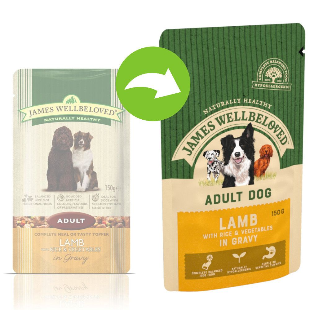 Adult Lamb & Rice James Wellbeloved Dog Pouches