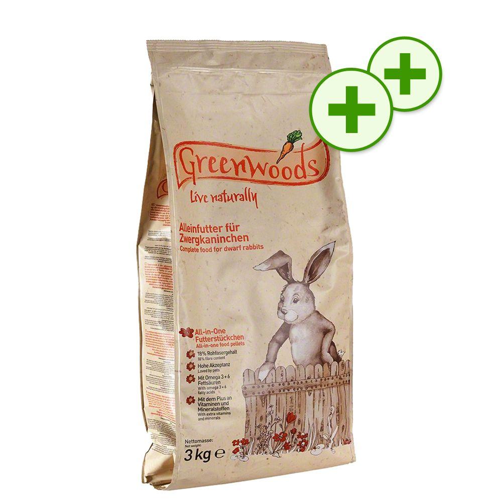 Dubbla bonuspoäng för Greenwoods smådjursfoder – Dvärgkaninfoder 3 kg