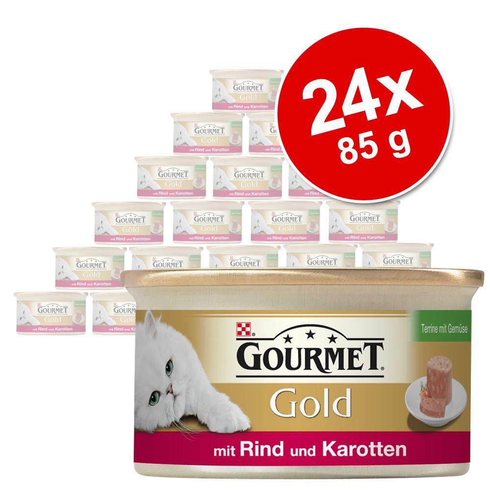 Megapack Gourmet Gold Terrine 24 x 85 g - Huhn, Karotten & Zucchini