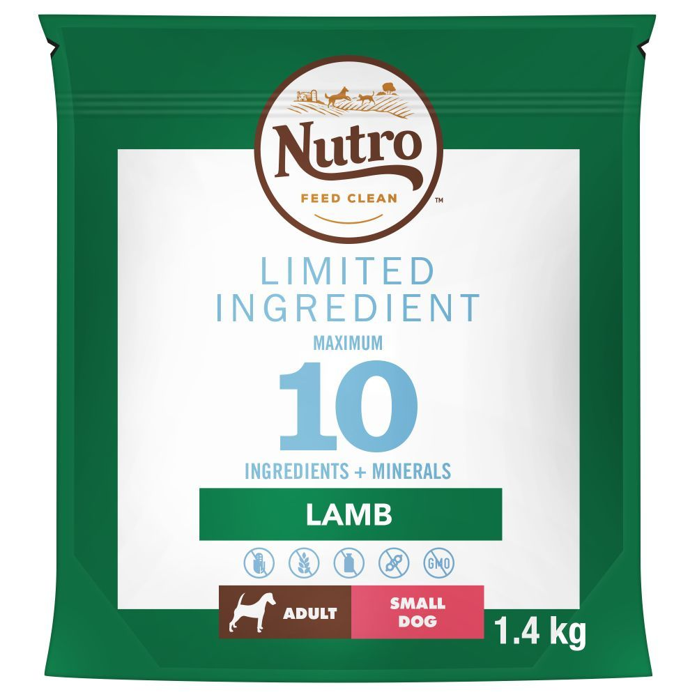 7kg Nutro Dog Limited Ingredient Lamb Small Breed Adult Dry Dog Food