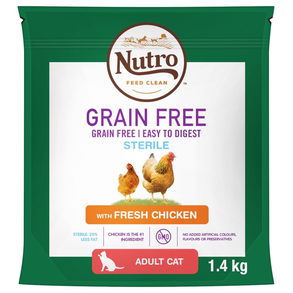 Grain-Free Chicken Sterilised Nutro Dry Cat Food