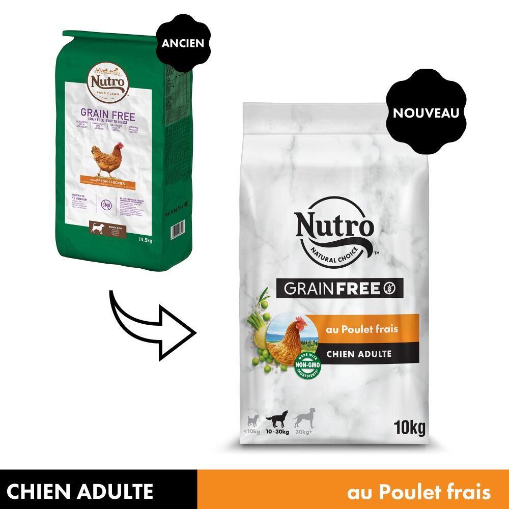 5x1,4kg Nutro Grain Free Adult poulet - Croquettes pour chien