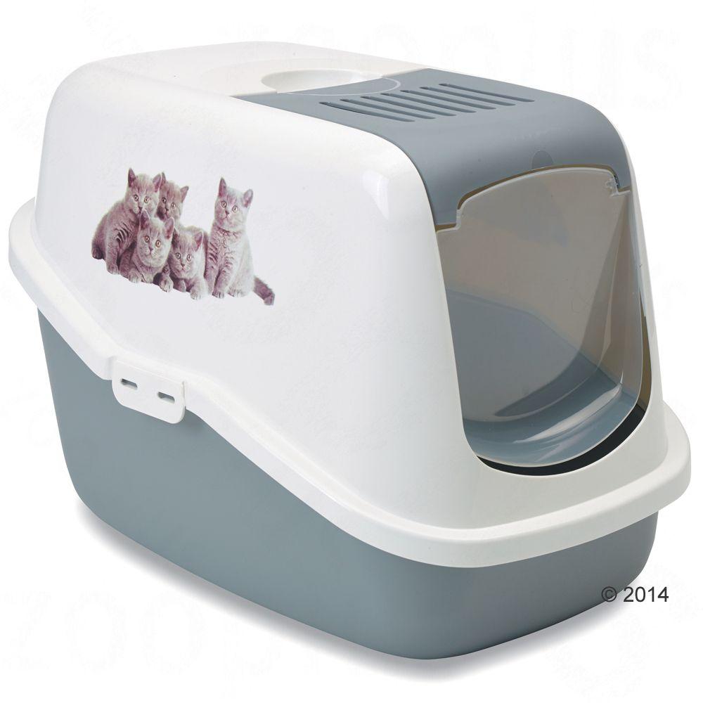 savic-nestor-impression-kitten-macskatoalett-vilagosszuerke-feher
