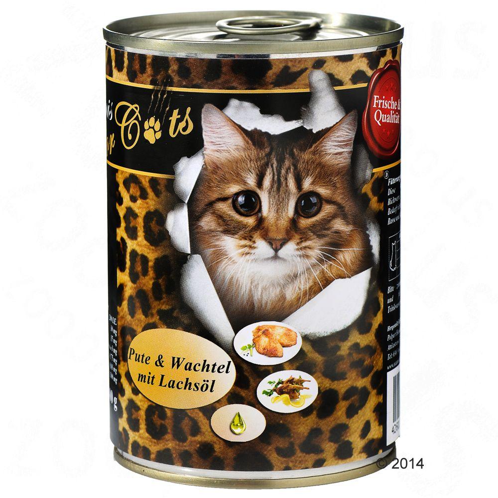 O'Canis karma dla kota, 6 x 400 g - Indyk, przepiórka i olej z łososia