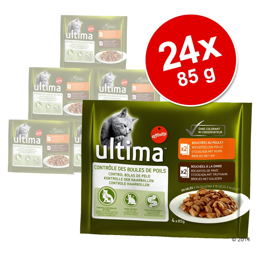 Image of Sparpaket: 24 x 85 g Ultima - Ultima Cat Hairball