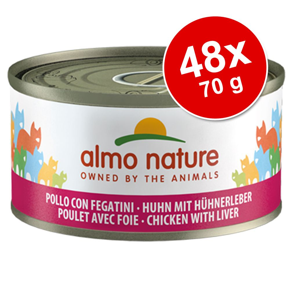 Ekonomipack: Almo Nature 48 x 70 g - Tonfisk, kyckling & ost