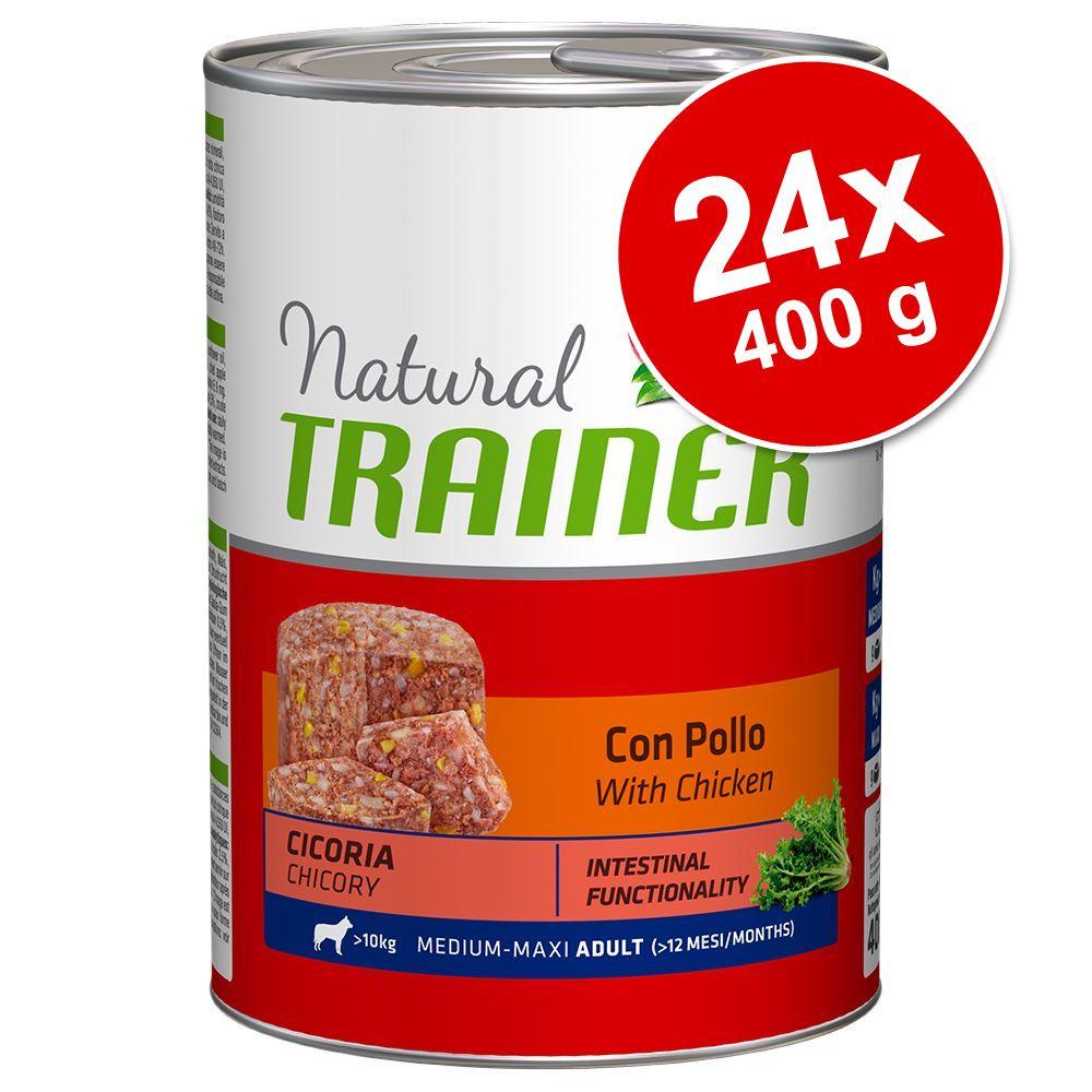 Image of Trainer Natural Adult Medium/Maxi 24 x 400 g - Mix (12x Pollo + 12x Manzo)
