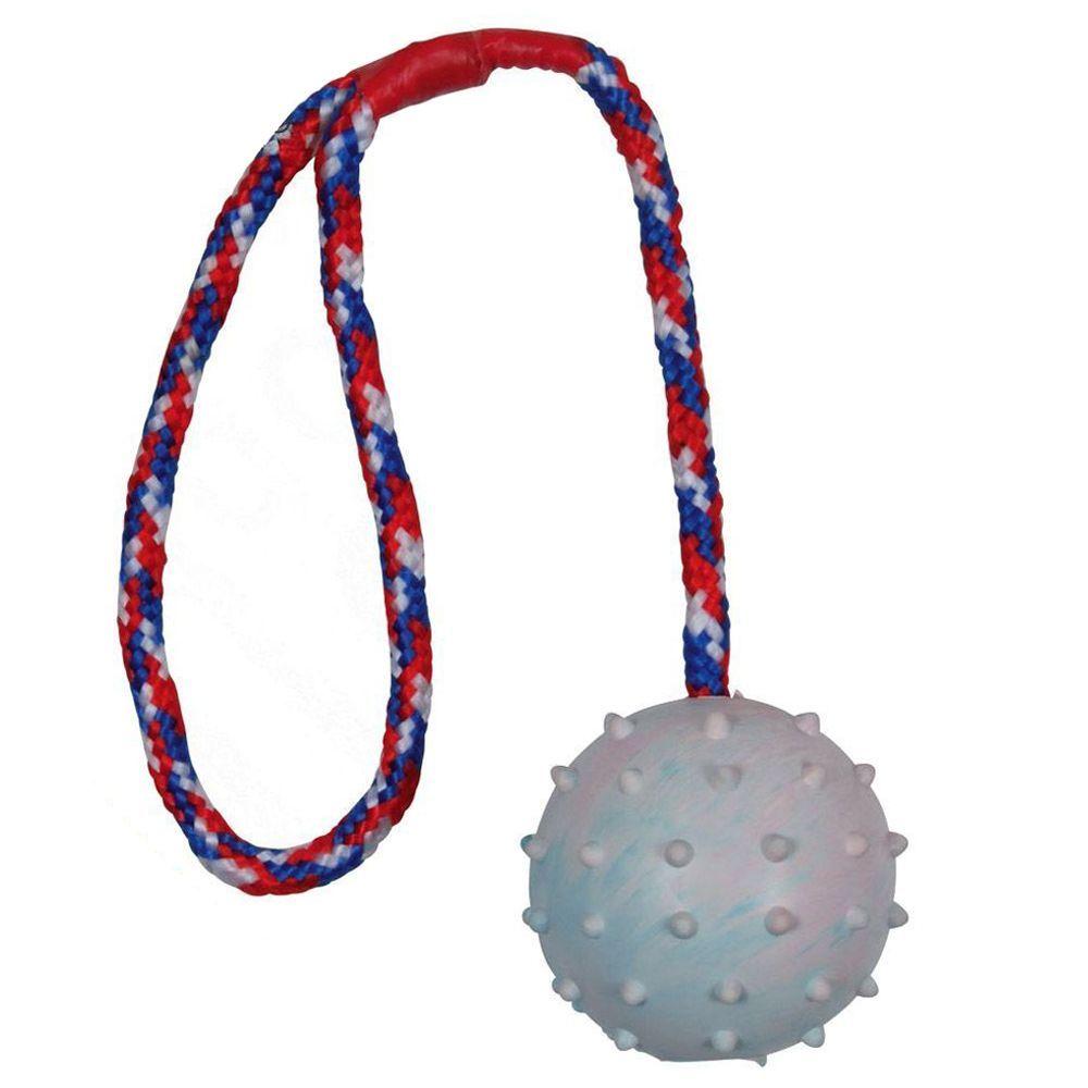 Trixie Balle en caoutchouc avec corde pour chien - 3 balles