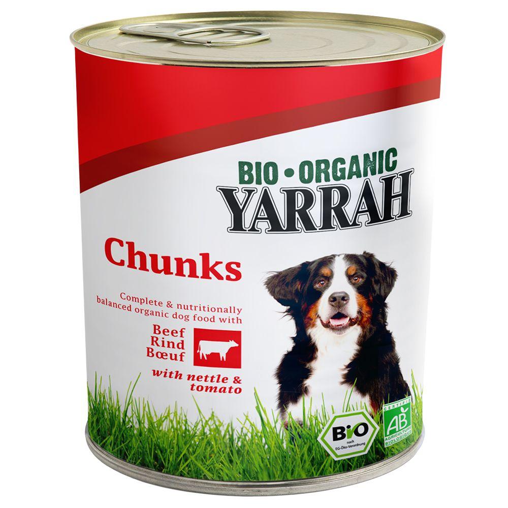 Yarrah Bio Nassfutter Dose 6 x 820 g - Huhn & R...